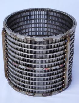 Siebkorb kurz passend für FAN/Bauer - Spaltmaß 0,75mm